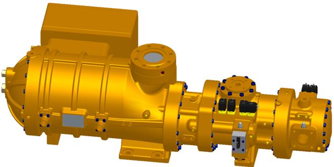 SRS1210 semihermetic 2-stage refrigeration compressor
